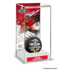Corey Crawford Autographed Puck and Custom Display Case