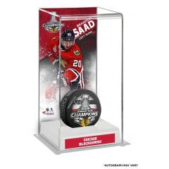 Patrick Sharp Autographed Puck and Custom Display Case