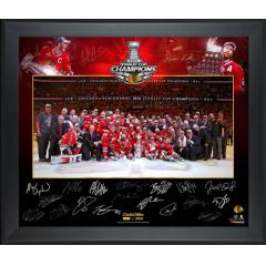 Blackhawks Stanley Cup Champs Team Photo with Signature Facsimiles