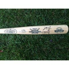 Bumgarner and Posey Signed Silver Slugger Commemorative Bat