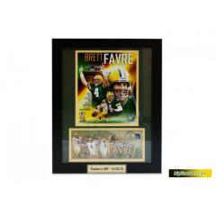 Brett Favre Framed Cache and Photo Presentation