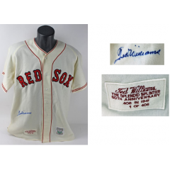 Authentic Ted Williams Autographed Red Sox Jersey