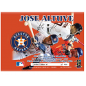 Jose Altuve Autographed Single Season Hits Record Bat