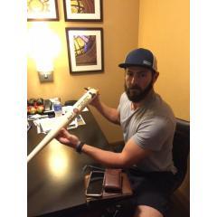 Jake Arrieta Autographed First No HItter Commemorative Bat