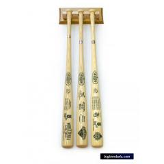 Royals AL Champs 3 Bat Set with FREE Display Rack
