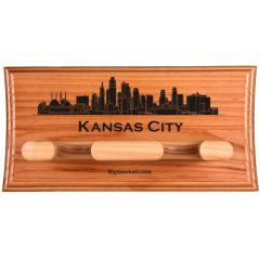 Kansas City Skyline Custom 2 Bat Display Rack