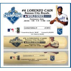 Lorenzo Cain Postseason Tribute Bat