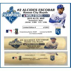 Alcides Escobar Postseason Tribute Bat