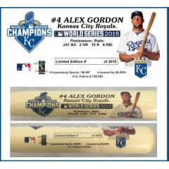 Alex Gordon Postseason Tribute Bat