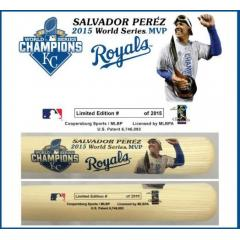 Salvador Perez World Series MVP Bat