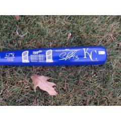 Salvador Perez Autographed World Series Champs Bat