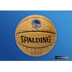 Most Wins to Start a Season Commemorative Wood Grain Basketball