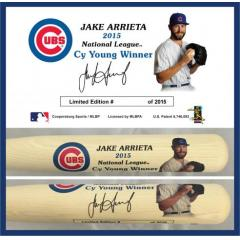 Jake Arrieta 2015 NY Cy Young Award Commemorative Bat