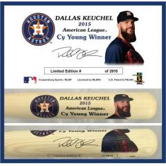 Dallas Keuchel 2015 AL Cy Young Award Commemorative Bat