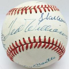500 HR Club - 12 Autographs - One Ball