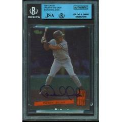 "Derek Jeter Signed ""Cream of the Crop"" Pre Rookie Card"