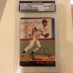 "Derek Jeter Signed ""Signature Collection"" Pre Rookie Card"