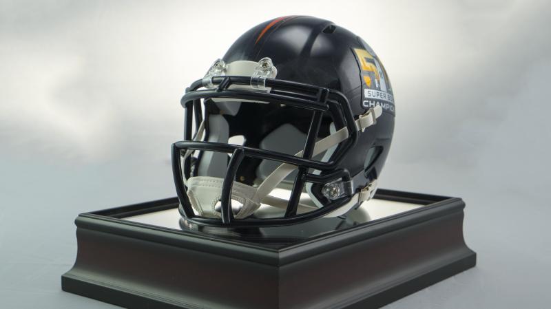 Denver Broncos Super Bowl 50 Champs Mini Helmet and Display Case ... 0fdbc73e9