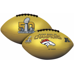 Exclusive Broncos Super Bowl 50 Champions Gold Football