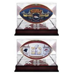 Broncos Super Bowl 50 Champs 2 Ball Set with Display Cases