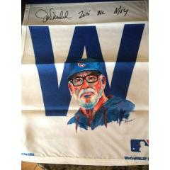 Cubs W Flag featuring Joe Maddon by artist Al Sorenson