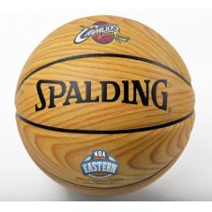 Cavaliers Eastern Conference Champs Wood Grain Commemorative Basketball