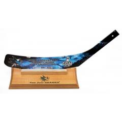 San Jose Sharks Western Conference Champs Stick Blade Display