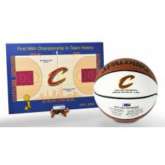 Cavaliers NBA Champs Mini Court and Basketball Set