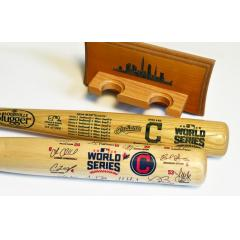 Indians 2016 World Series Two Bat Set with FREE Display Rack