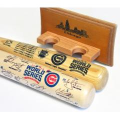 Cubs 2016 World Series Two Bat Set with FREE Display Rack