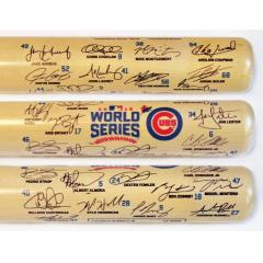 Chicago Cubs 2016 World Series Team Signature Bat