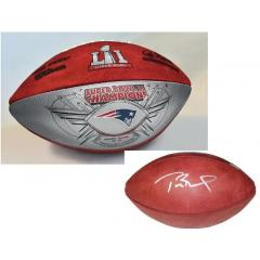 Tom Brady Autographed Super Bowl LI Champions Football