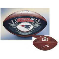 James White Autographed Super Bowl LI Champions Football