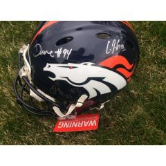 Broncos Stars Signed Peyton Manning Game Model Helmet