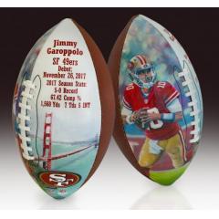 Jimmy Garoppolo 49ers Debut Collectible Art Football