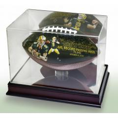 Drew Brees All-Time Passing Leader Display Case & Football