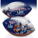 Patriots Super Bowl LIII Champions Commemorative Art Football