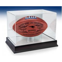 Patriots Super Bowl LIII Champions Wilson Duke Game Ball & Display Case