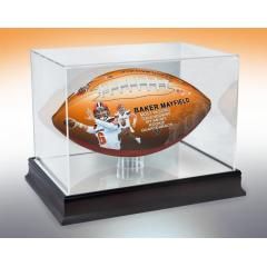 Baker Mayfield Rookie TD Record Art Football & Display Case