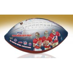San Francisco 49ers NFL 100th Legacy Art Football