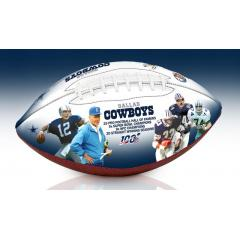 Dallas Cowboys NFL 100th Legacy Art Football