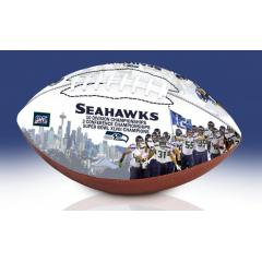 Seattle Seahawks NFL 100th Legacy Art Football