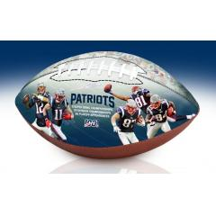 New England Patriots NFL 100th Legacy Art Football