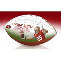 George Kittle TE Receiving Yards Record Art Football