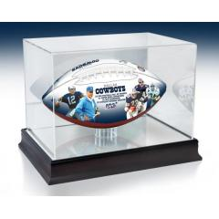 Dallas Cowboys NFL 100th Legacy Art Football & Display Case