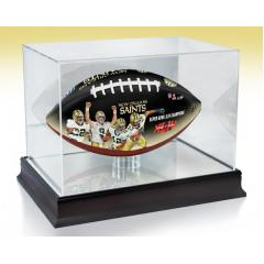 New Orleans Saints NFL 100th Legacy Art Football & Display Case