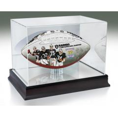 Oakland Raiders NFL 100th Legacy Art Football & Display Case