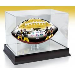 Pittsburgh Steelers NFL 100th Legacy Art Football & Display Case