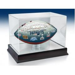 New England Patriots NFL 100th Legacy Art Football & Display Case