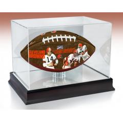 Cleveland Browns NFL 100th Legacy Art Football & Display Case